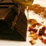 Toast al cioccolato e frutta