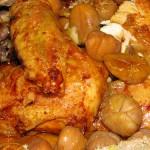 Ricette di Natale: cappone con castagne e arance